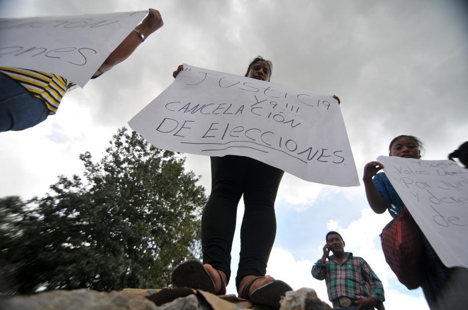 Los inconformes exigen que las elecciones sean anuladas. (Foto: Byron de la Cruz/Soy502)