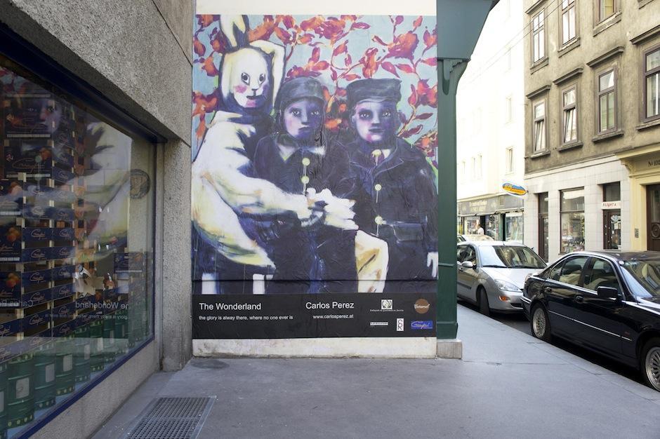 El Trabajo del artista guatemalteco Carlos Pérez es, ahora, parte de las calles de Viena, Austria. (Foto: Carlos Pérez)