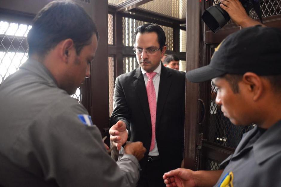 Muralles llegó a Torre de Tribunales junto a 11 implicados más para continuar con la primera declaración del caso. (Foto: Jesús Alfonso/Soy502)