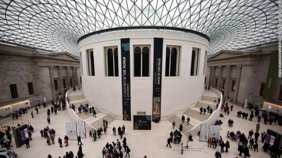 """El Museo Británico en Londres es descrito por la revista como """"la mejor casa de los tesoros en Europa""""."""