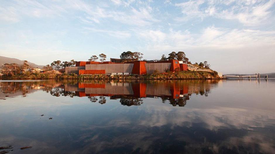 El Museo del Nuevo y viejo Arte de Australia logró colarse a la lista de los 20 sitios mejores para visitar a pesar de tener menos de cinco años de existencia.