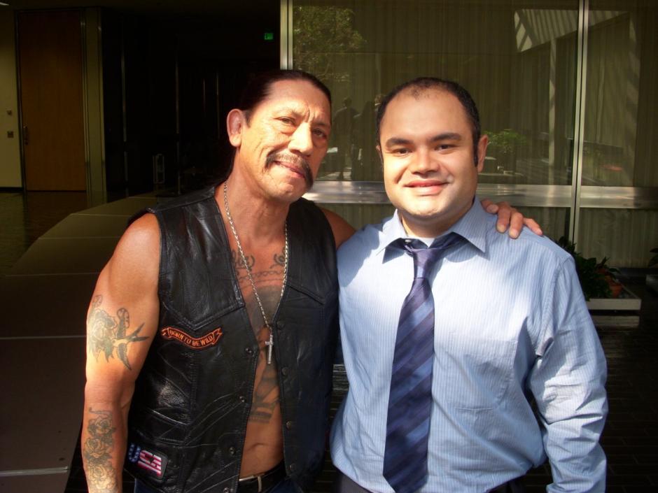 Estar en Hollywood le ha dado la oportunidad a Erick Chavarria de compartir con el actor Danny Trejo. (Foto: Erick Chavarria)