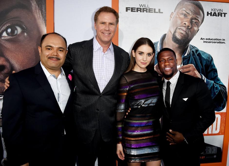 Erick posa junto a Will Ferrell, Alison Brie y Kevin Hart en la premier de Get Hard. (Foto: Erick Chavarria)
