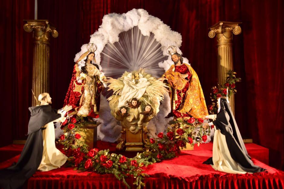 Este es el Nacimiento que fue elaborado en la iglesia de Santo Domingo. (Foto: Jesús Alfonso/Soy502)