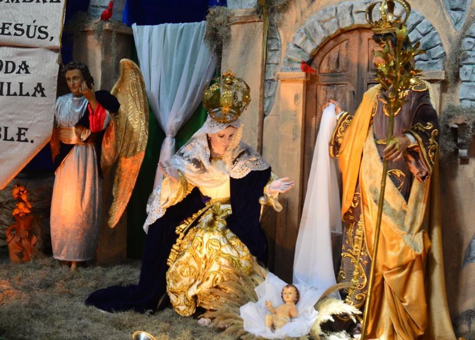 Este es el Nacimiento que fue elaborado en la iglesia La Recolección. (Foto: Jesús Alfonso/Soy502)
