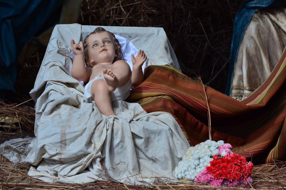 La imagen del Niño Jesús del Nacimiento de la iglesia La Merced. (Foto: Jesús Alfonso/Soy502)