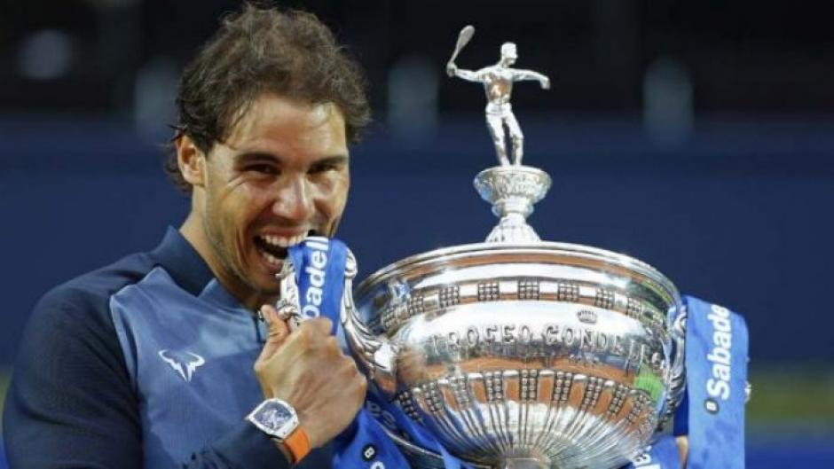 Nadal se quedó con el Open Banc Sabadell-Trofeo Conde de Godó. (Foto: AFP)
