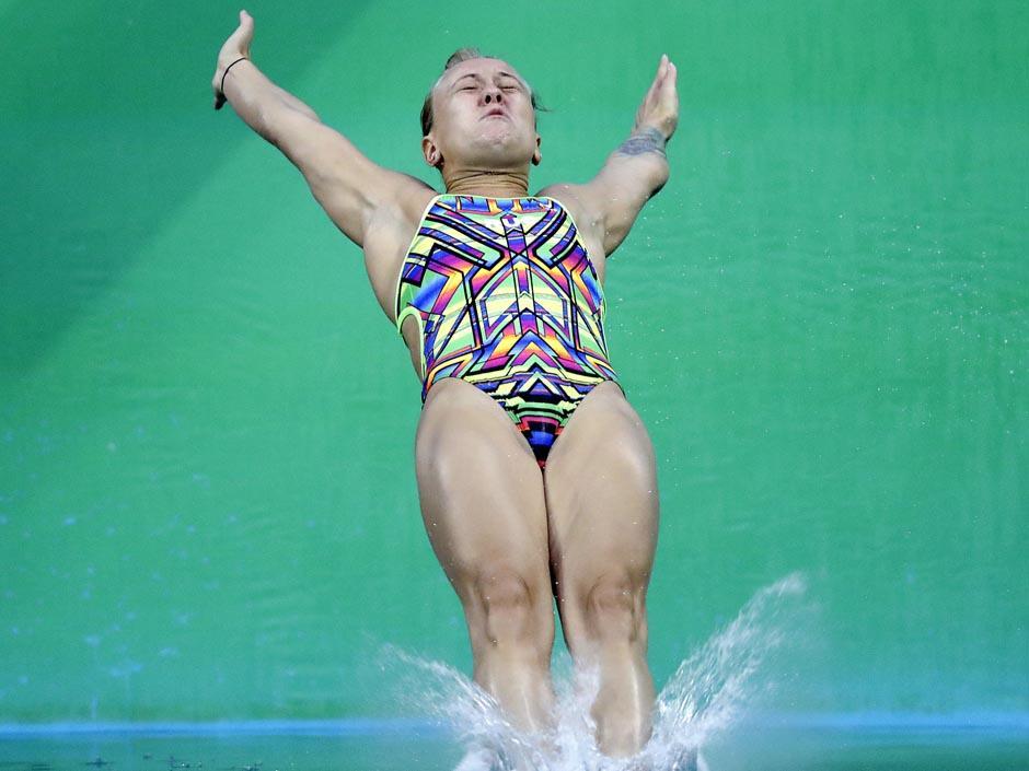 Nadezhda Bazhina es una clavadista rusa que tuvo muy mala fortuna en Río de Janeiro. (Foto: AFP9
