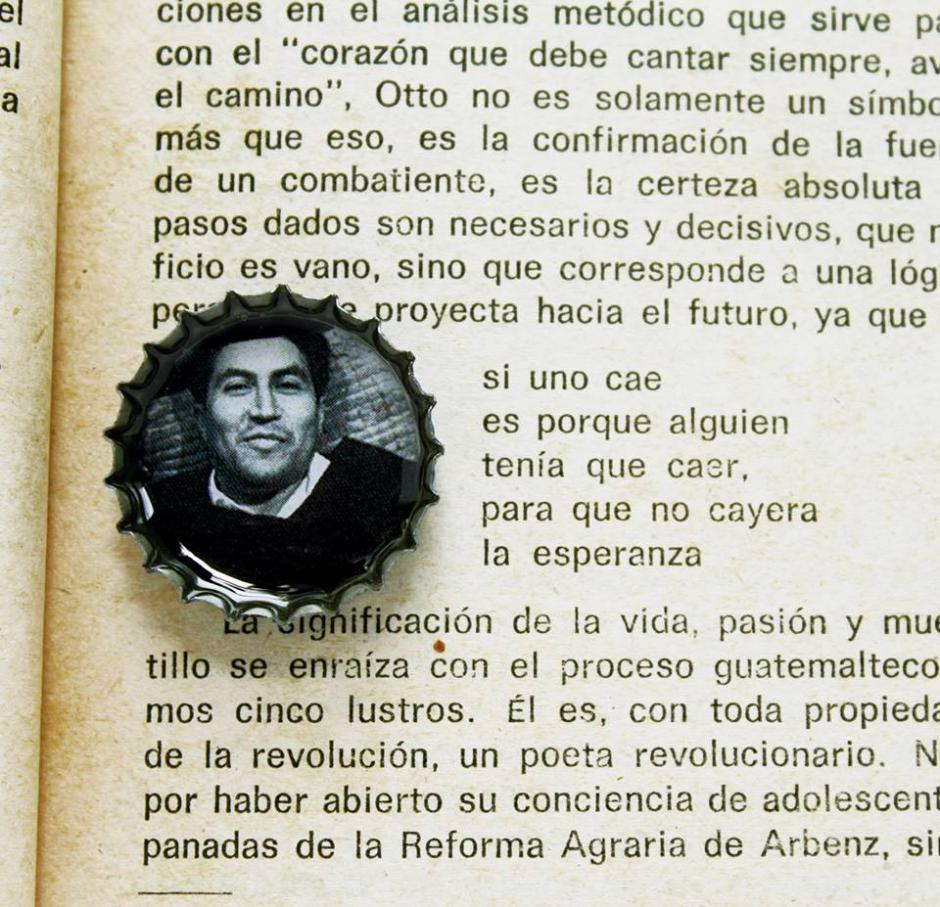 Los poemas del guatemalteco Otto René Castillo se plasman en esta imagen. (Foto: Ñati)