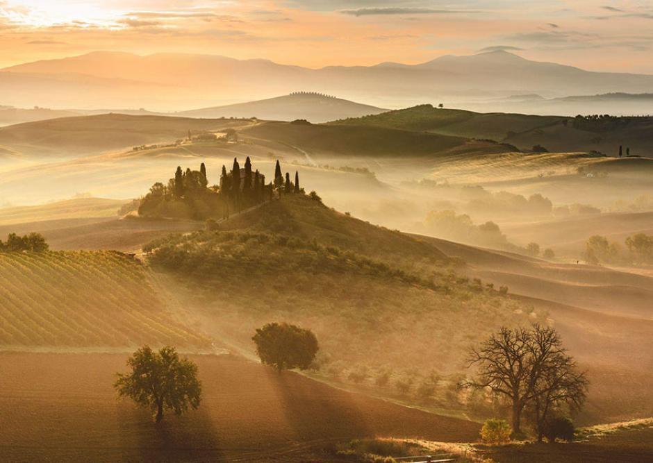 Un dorado atardecer en Italia. (Foto: Giovanni Modesti/National Geographic)