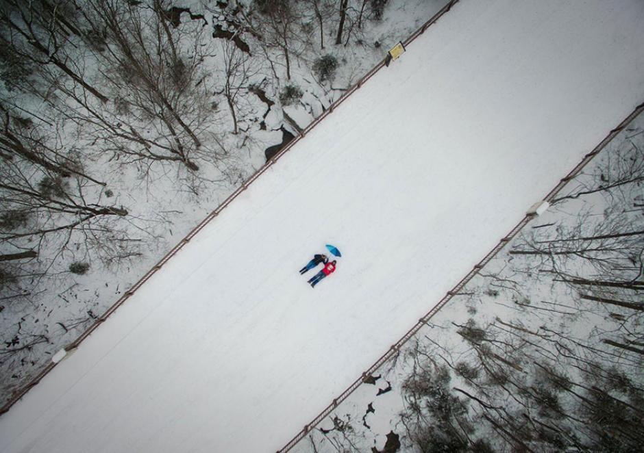 Una selfie captada con un Drone en New Hampshire, Estados Unidos. (Foto: Manish Mamtani/National Geographic)