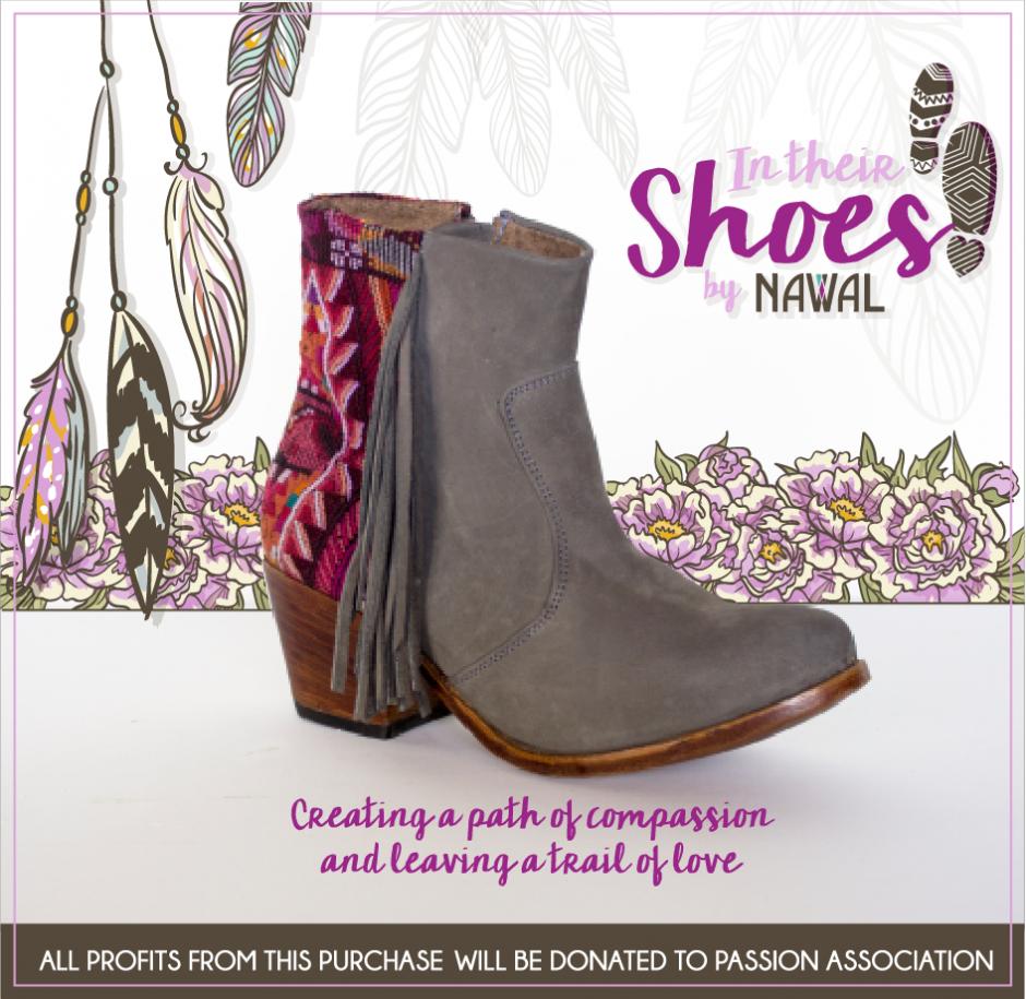 Con estas lindas botas, diseñadas por Jessica Scheel junto a Nawal Boots, podrás ayudar a muchos niños. (Foto: Nawal Boots)