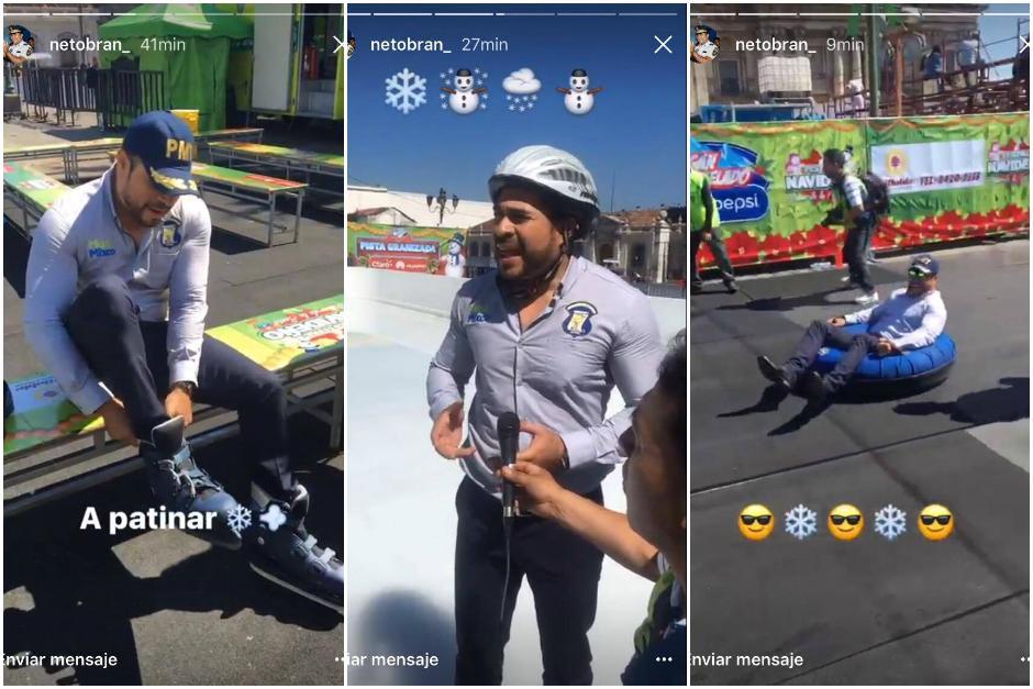 El alcalde de Mixco pasó una mañana divertida en el Festival Navideño de la Sexta. (Foto: Instagram/Neto Bran)