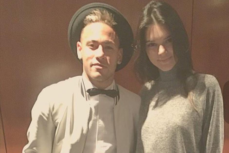 Neymar junto a la hermana de Kim, Kendall Jener. (Foto: Instagram)