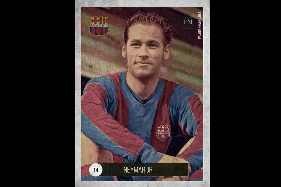 Con esta apariencia Neymar Jr. bien podría haber jugado al lado de Pelé