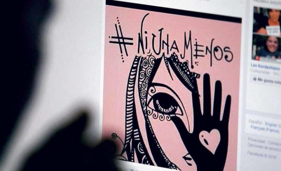 "La campaña ""Ni Una Menos"" inició en Argentina. (Foto: La Tercera)"