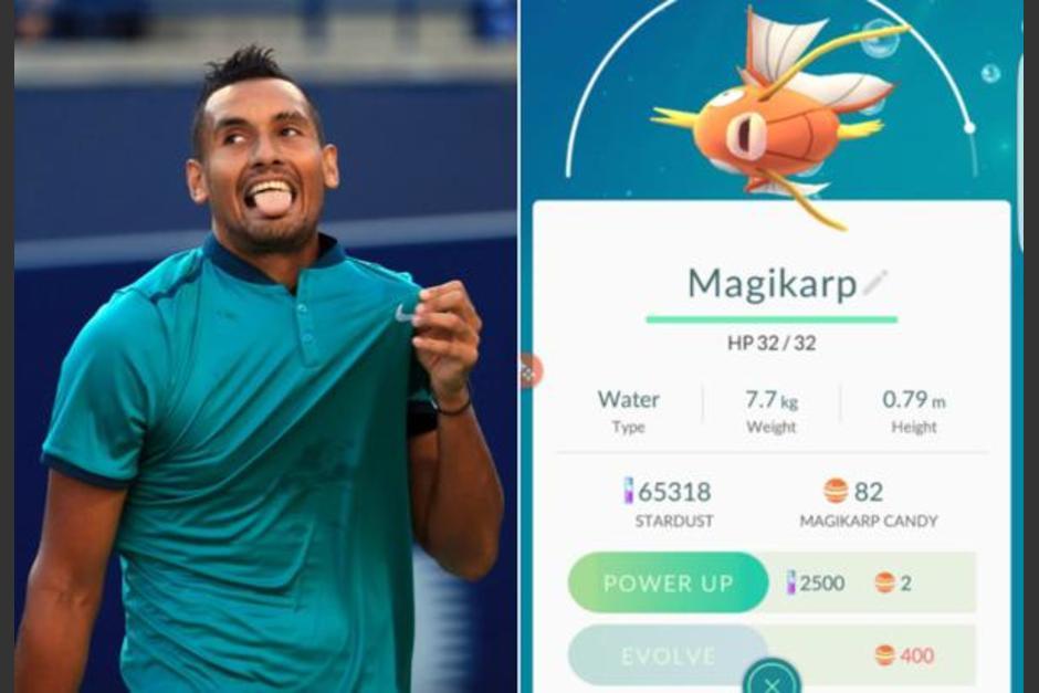El tenista Nicholas Kyrgios expresó que perdió con un novato por culpa de Pokémon GO. (Foto: Infobae)