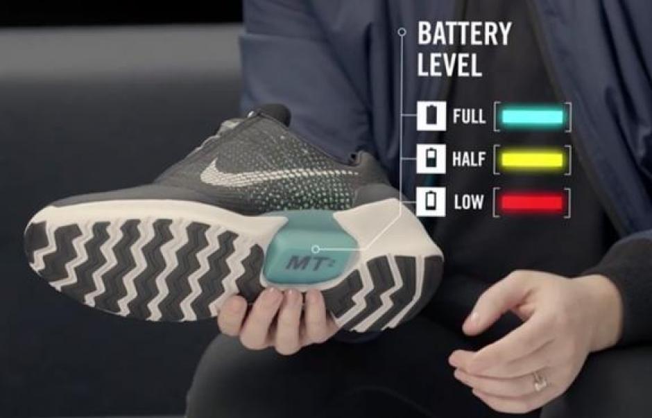 El nivel de carga de la batería se mide en la planta del zapato. (Foto: viveusa.mx)