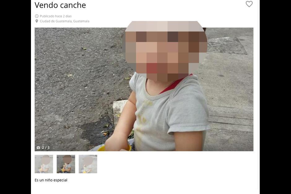 Autoridades investigan el anuncio sobre un supuesto niño en venta en la zona 3 capitalina. (Foto: Archivo/Soy502)