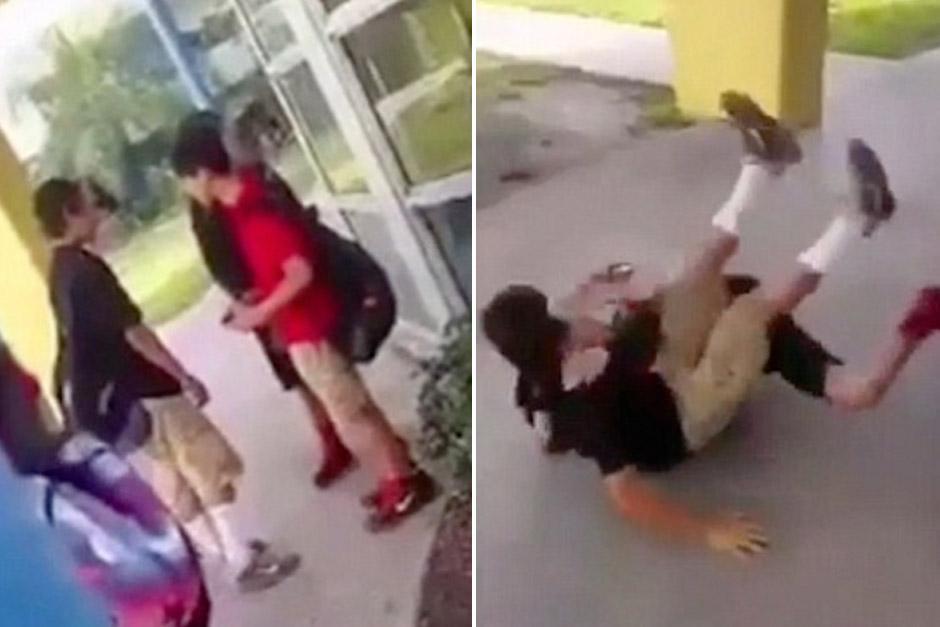 Un niño no soportó más a su acosador y lo tumbó con una llave de MMA