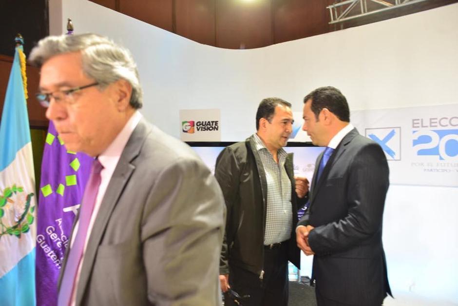 Los hermanos Morales durante uno de los debates presidenciales. (Foto: Archivo/Soy502)