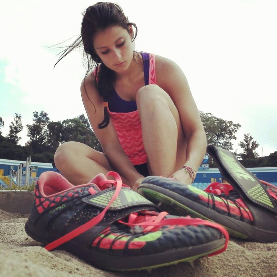 Noe se roba las miradas en las comptencias de atletismo. (Foto: Noe Fuentes)