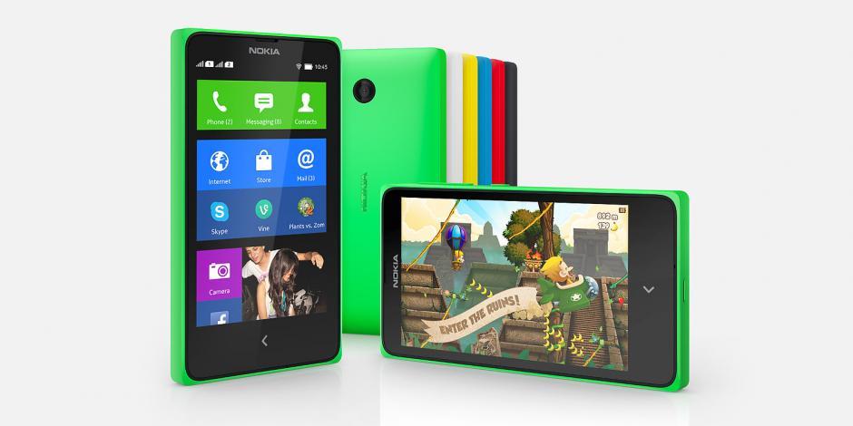 La línea de teléfenos Nokia X son los primeros de esta compañia en utilizar el sistema Android a pesar de ser una empresa propiedad de Microsoft. (Foto: Nokia)