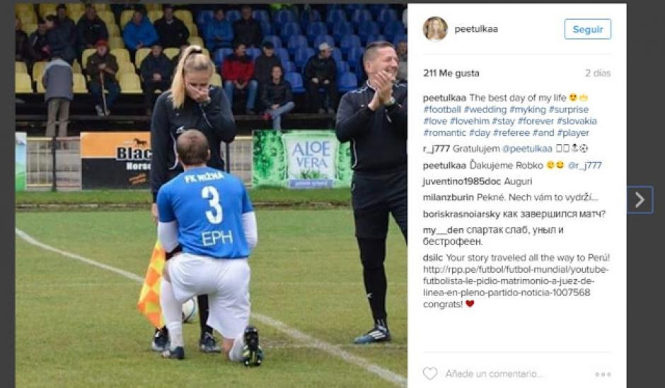 Petra Lepackova compartió en su cuenta de Facebook la foto del emotivo momento. (Foto: Facebook)