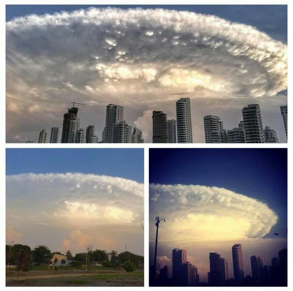 El fenómeno fue captado en fotos y video. (Foto: Excelsior)