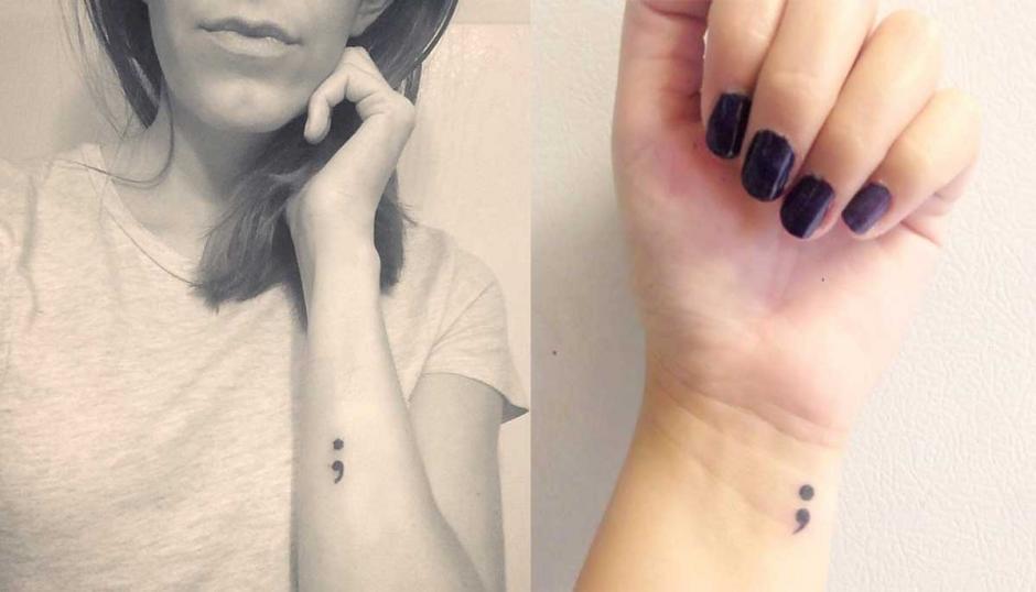 La tendencia del tatuaje de punto y coma tiene un significado de esperanza. (Foto: Internet)