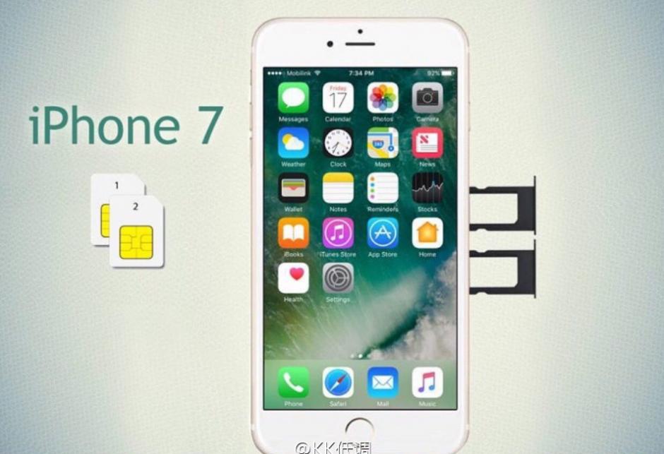 El nuevo iPhone 7 se rumora que contará con una doble ranura SIM. (Foto: The Malignant/witter)