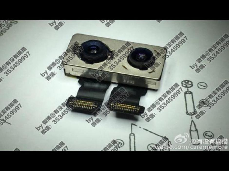 El iPhone 7 Plus podría tener dos cámara principales. (Foto: Weibo)