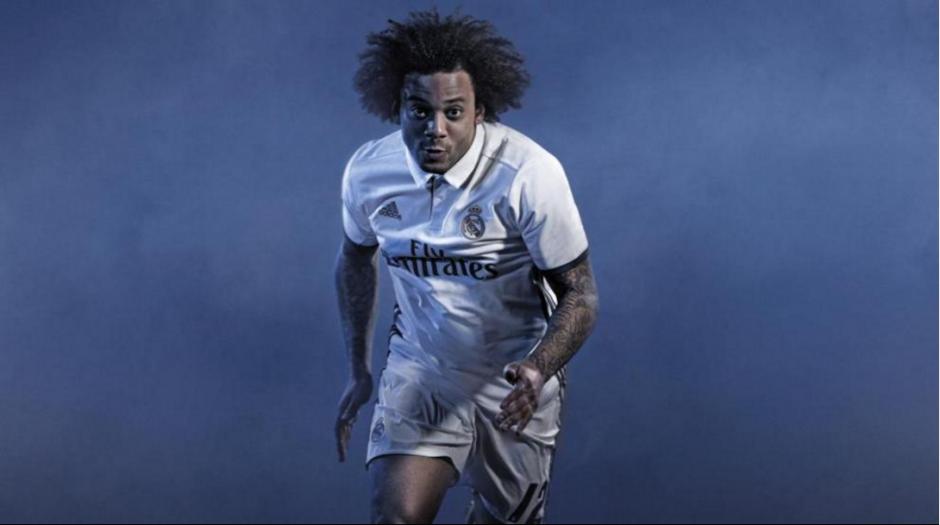 Marcelo fue parte de la campaña del nuevo uniforme del Real Madrid. (Foto: Marca)