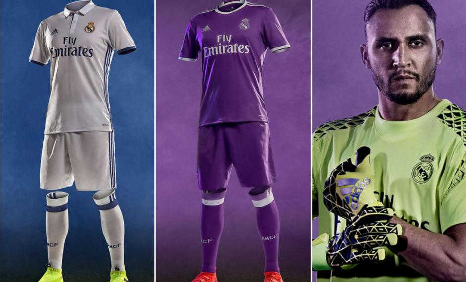 El Real Madrid dio a conocer sus nuevos uniformes para la temporada 2016-2017. (Imagen: Marca)