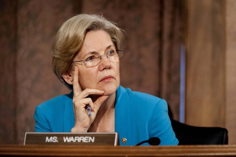 La senadora por Massachussetts, Elizabeth Warren podría ser la compañera de Clinton. (Foto: www.huffingtonpost.com)