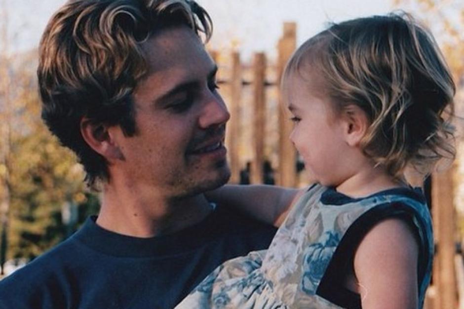 Paul Walker en una foto de archivo junto a su pequeña Meadow Walker