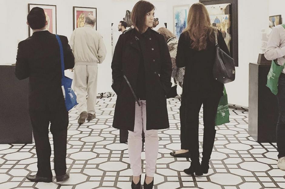 """""""Momento de Ángeles"""" estará exhibiendo las obras -en el segundo nivel del atrio- hasta el 13 de noviembre."""