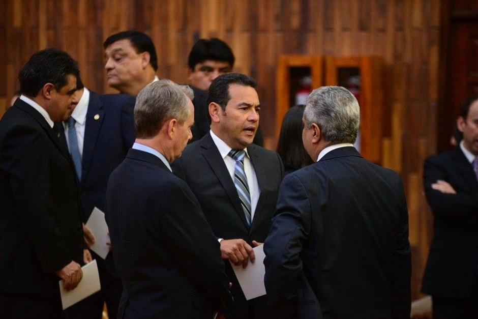 Entre los invitados también estuvo Jimmy Morales, candidato a la presidencia de Guatemala. (Foto: Wilder López/Soy502)