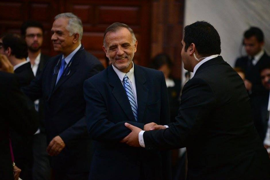 Iván Velásquez, titular de la CICIG llegó al OJ para el cambio de presidencia. (Foto: Wilder López/soy502)