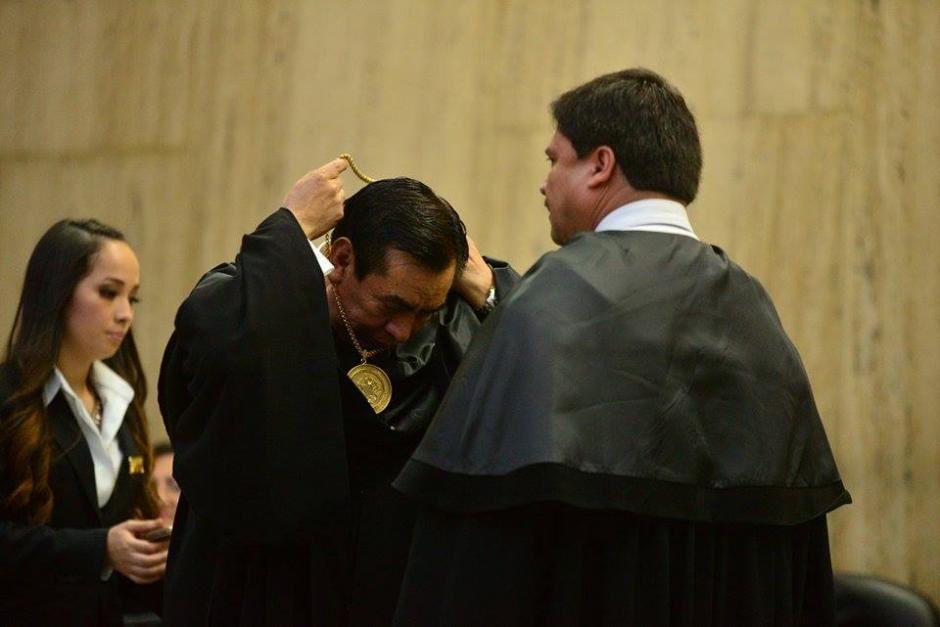 Josué Felipe Baquiax asumió el poder en el Organismo Judicial en noviembre de 2014. (Foto: Wilder López/Soy502)