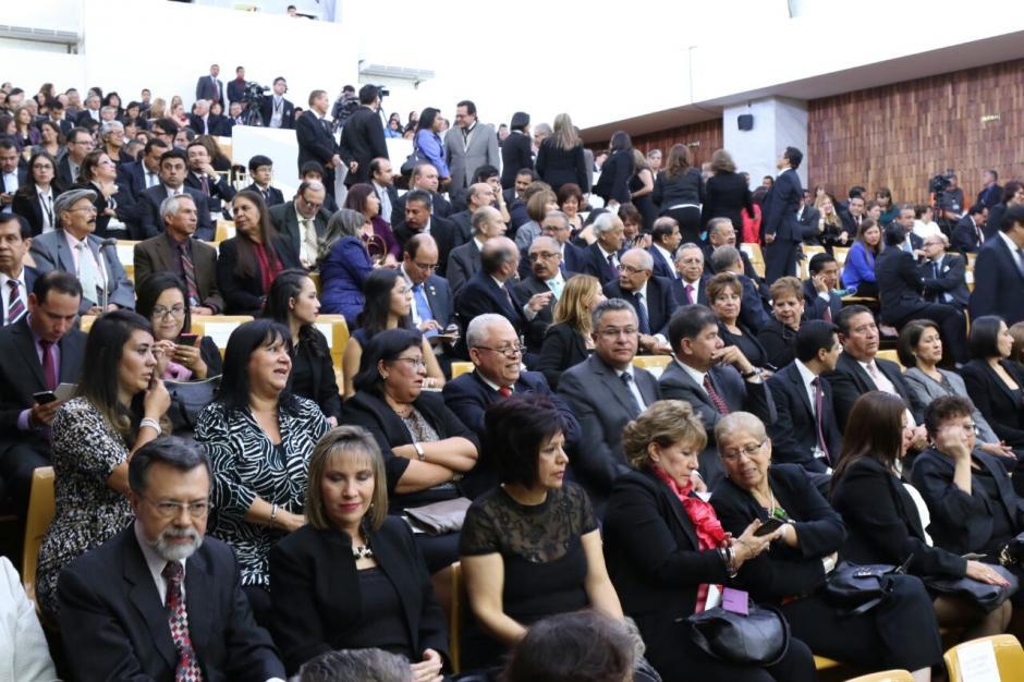 Así se encontraba la Sala de Vistas del Organismo Judicial. (Foto: Alejandro Balan/Soy502)
