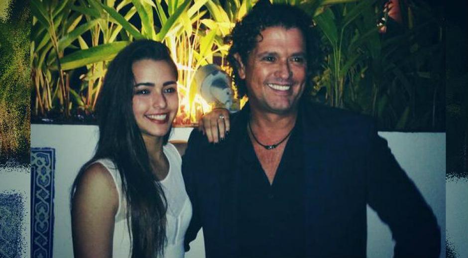 Carlos Vives junto a su hija mayor. (Foto: Instagram)