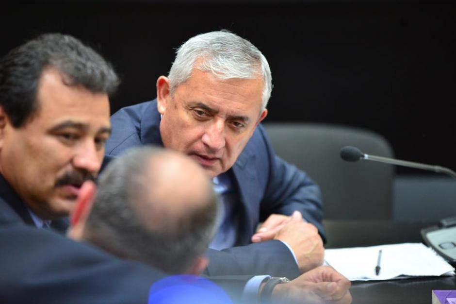 La cara del expresidente Otto Pérez Molina al llegar al segundo día de la audiencia de primera declaración. (Foto: Jesús Alfonso/Soy502)