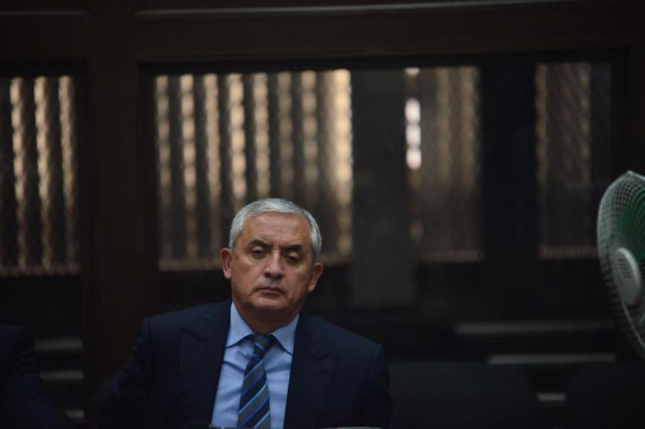 A Otto Pérez Molina se le notaba exhausto durante el segundo día de la audiencia de primera declaración. (Foto: Jesús Alfonso/Soy502)