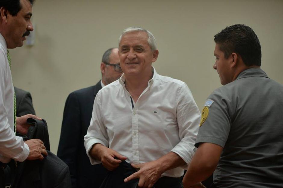 El exmandatario aseguró que no ha tenido comunicación con Roxana Baldetti. (Foto: Wilder López/Soy502)