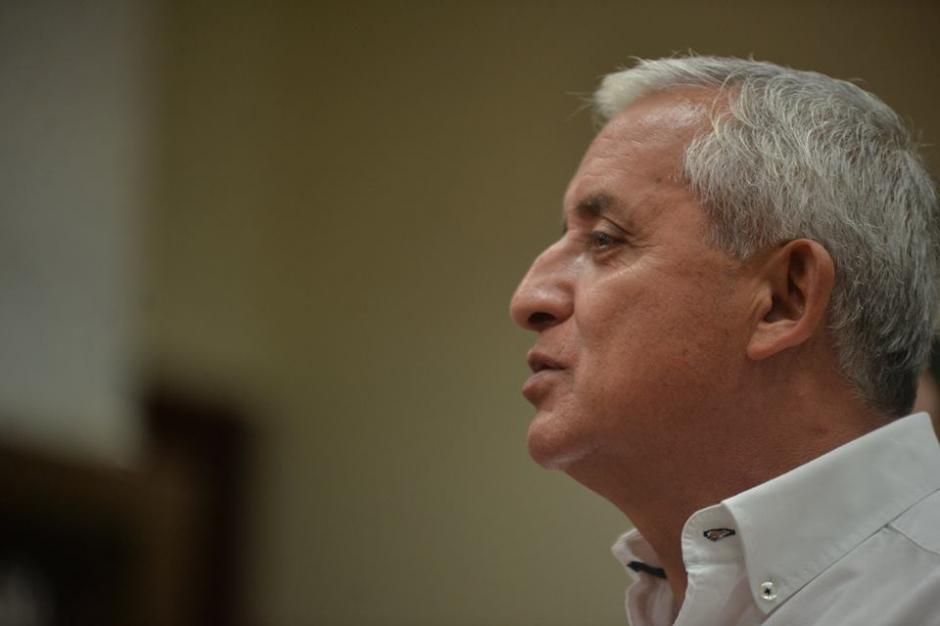 Pérez Molina negó haber amenazado de muerte a Salvador González.  (Foto: Wilder López/Soy502)