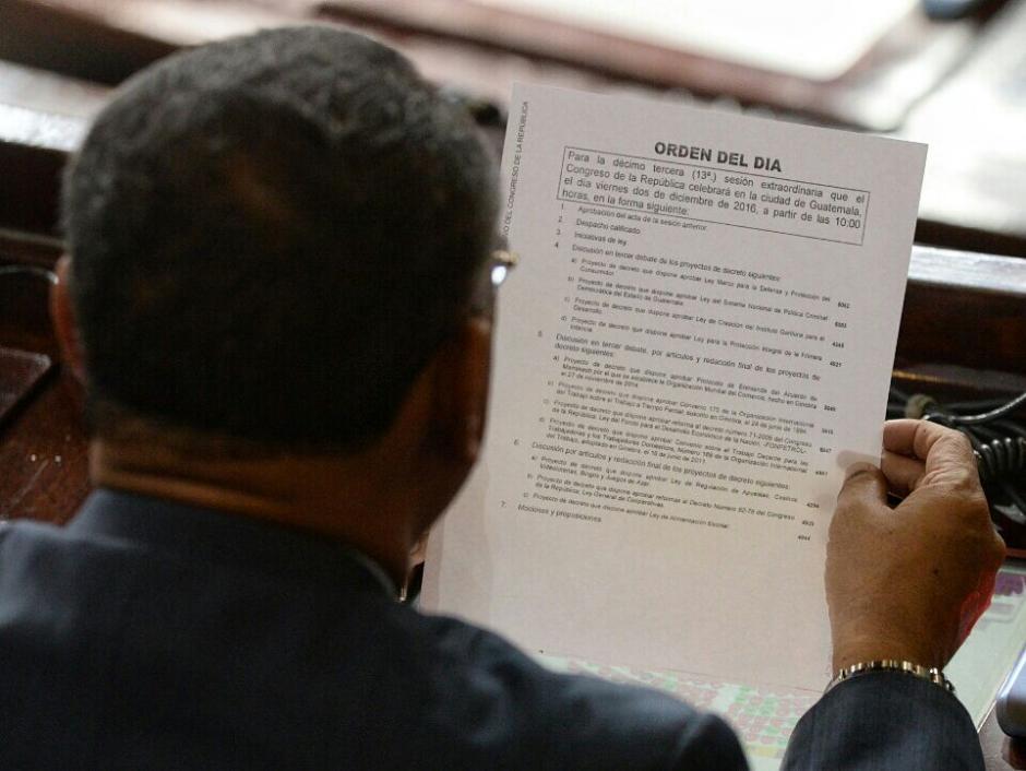 Varios de los puntos agendados aún no tienen el respaldo necesario para su aprobación. (Foto: Wilder López/Soy502)