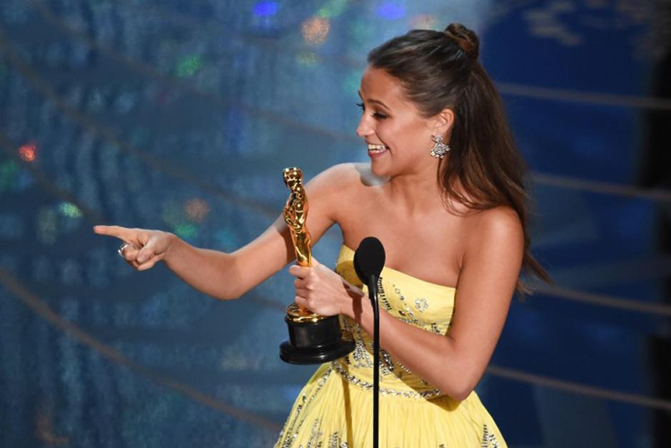 Mejor Actriz de Reparto: Alicia Vikander. (Foto: AFP)