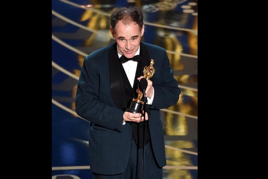 Mejor Actor de Reparto: Mark Rylance por 'El puente de los espías'. (Foto: AFP)