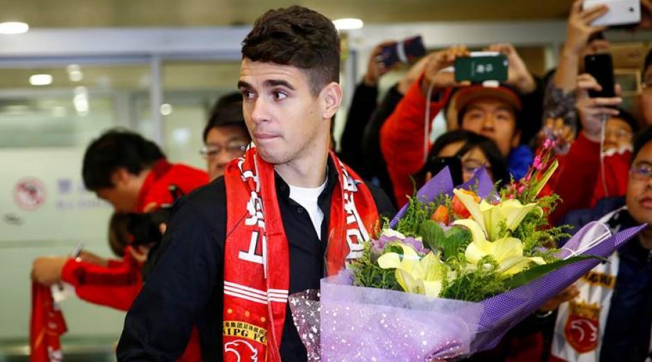 Oscar el el último gran fichaje de la Súper Liga de China. (Foto: Twitter)
